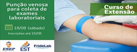 Extensão em Punção Venosa para coleta de exames laboratoriais