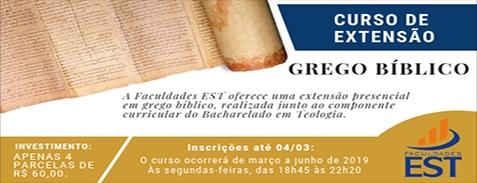 Curso de Extensão em Grego Bíblico