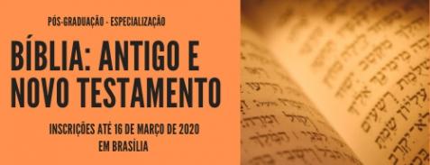 Especialização em Bíblia: Antigo e Novo Testamento