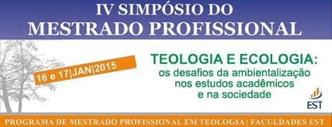 IV Simpósio do Mestrado Profissional em Teologia