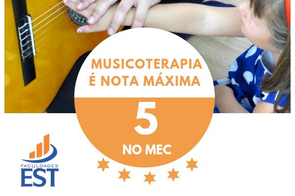 Musicoterapia é nota máxima do MEC
