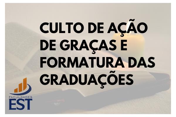 Formatura das graduações 2018/2