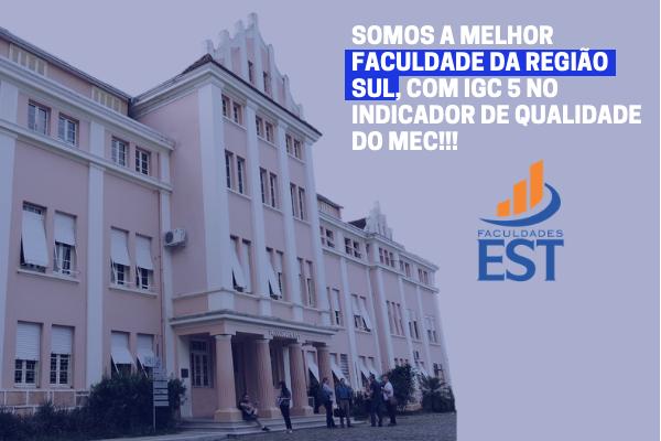 Faculdades EST é a melhor Faculdade da Região Sul do Brasil em avaliação do MEC