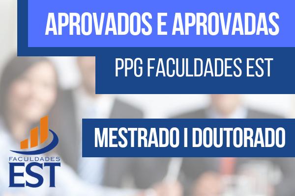 Resultado da seleção para o PPG da Faculdades EST