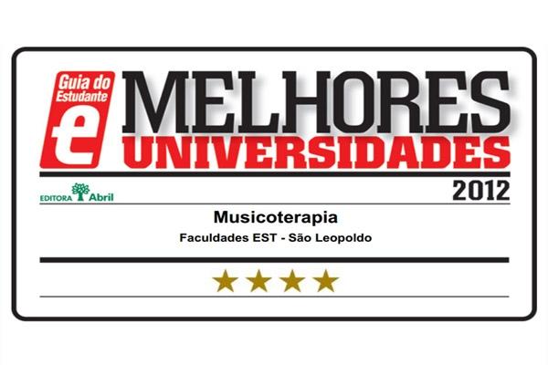 """Bacharelado em Musicoterapia recebe o selo """"Melhores Universidades"""" da Editora Abril"""