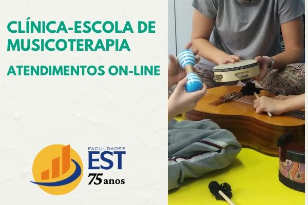Clínica-Escola de Musicoterapia com atendimentos on-line