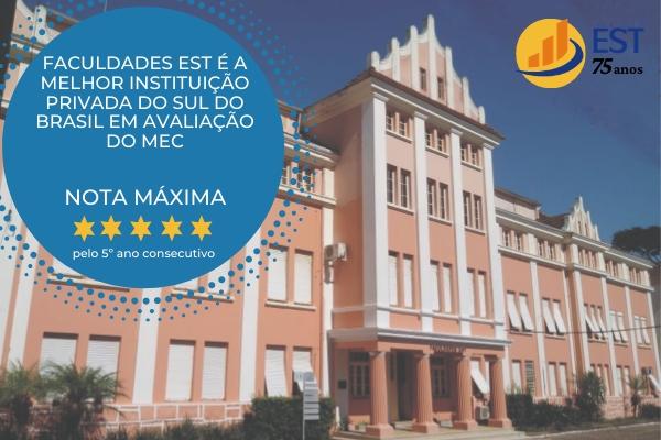 Faculdades EST é a melhor instituição privada do Sul do Brasil