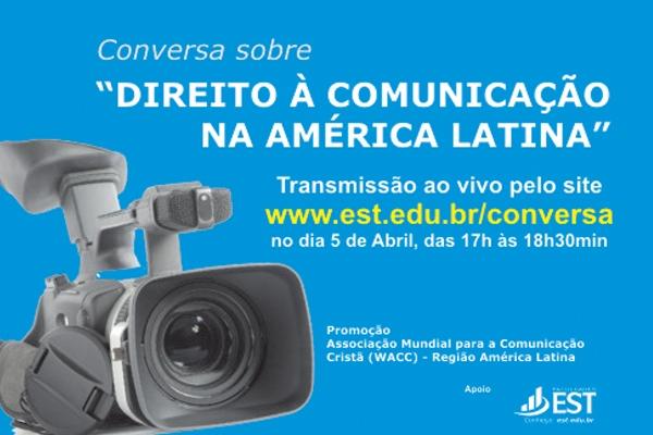 Conversatório sobre o direito à comunicação será transmitido ao vivo