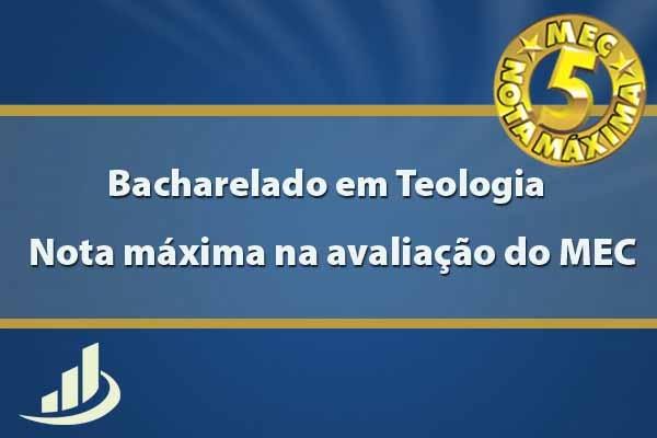 Curso de Teologia é avaliado com nota máxima pelo MEC