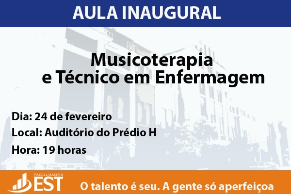 Musicoterapia e Enfermagem promovem aula inaugural conjunta