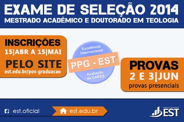 Inscrições para o Mestrado Acadêmico e Doutorado vão até 15 de maio