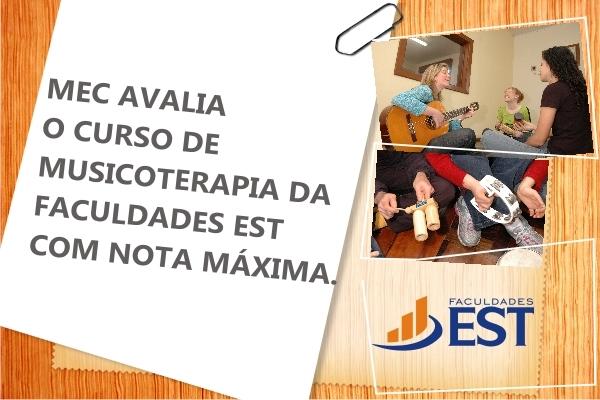 Curso de Musicoterapia é avaliado com excelência pelo MEC