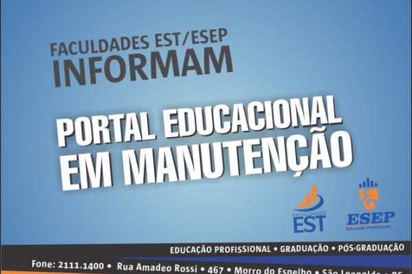 Portal Educacional em manutenção