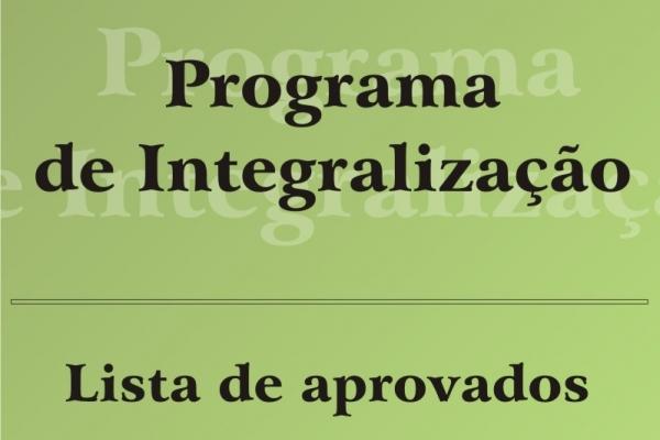 Divulgada a lista de aprovados no Programa de Integralização