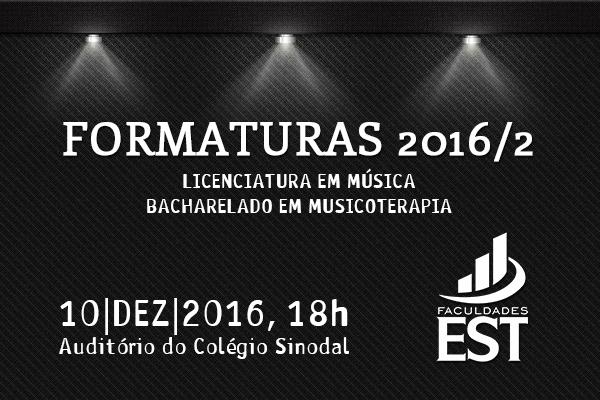 Formaturas 2016/2
