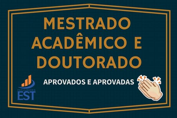 Mestrado Acadêmico e Doutorado