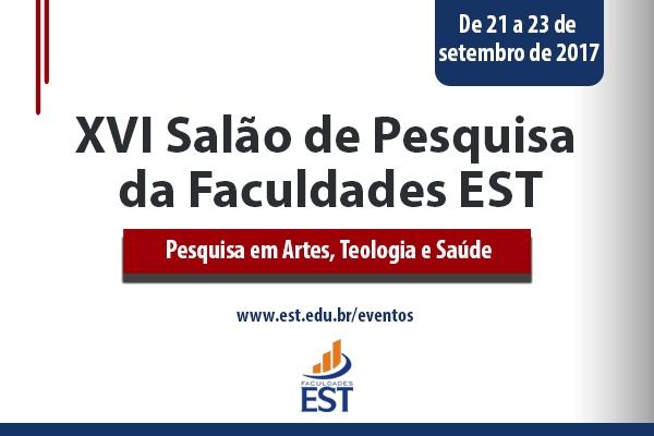 XVI Salão de Pesquisa da Faculdades EST será entre os dias 21 e 23 de setembro