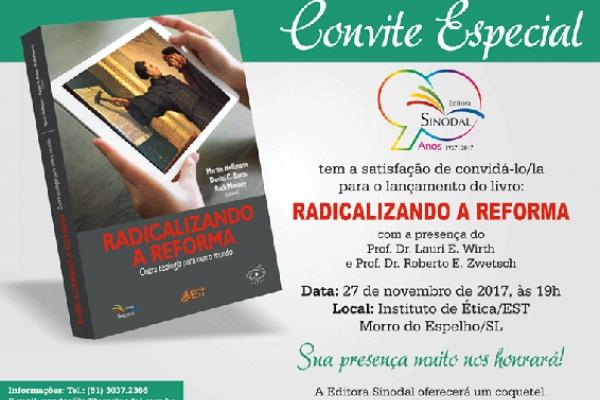 Calendário de lançamento do livro Radicalizando a Reforma