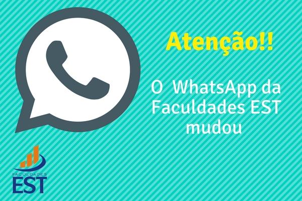Novo WhatsApp Faculdades EST