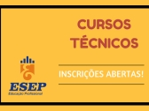 Inscrições abertas para os Cursos Técnicos